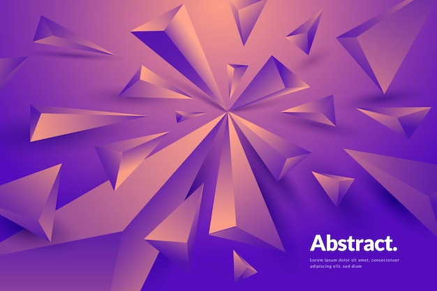 Hintergrund mit geometrischen formen 3d