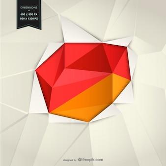 Hintergrund mit geometrischen formen rot