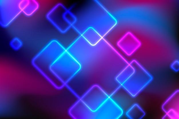 Hintergrund mit geometrischen formen und lichtern