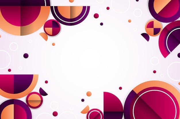 Hintergrund mit geometrischen kreisformen mit farbverlauf