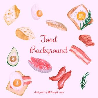 Hintergrund mit gesundem essen