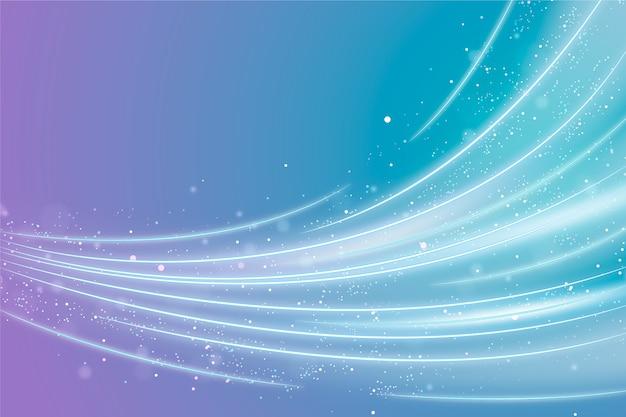 Hintergrund mit glänzendem wellendesign