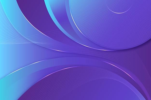 Hintergrund mit glatten linien im verlaufsstil
