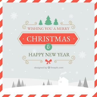 Hintergrund mit Glückwünschen zu Weihnachten
