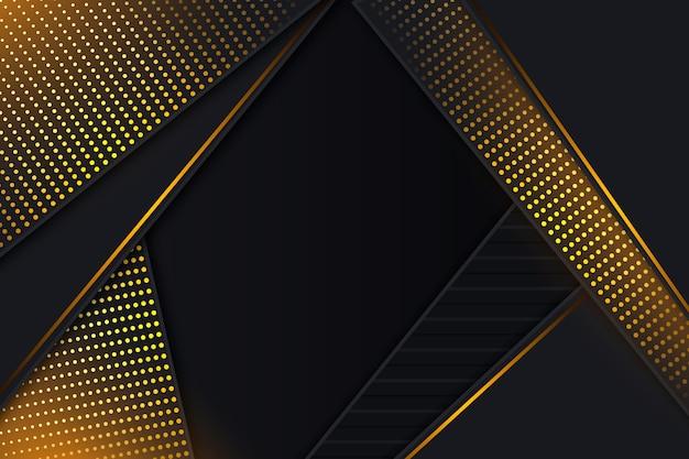 Hintergrund mit goldenen details und dunklem papier