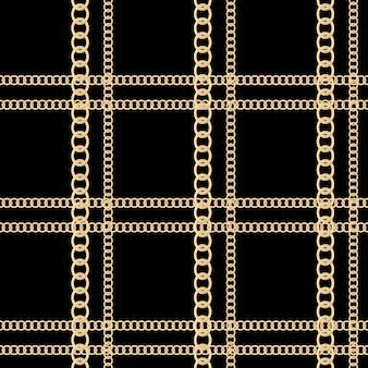 Hintergrund mit goldenen ketten