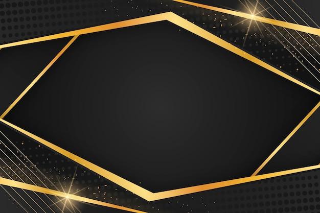 Hintergrund mit goldenen linien mit farbverlauf