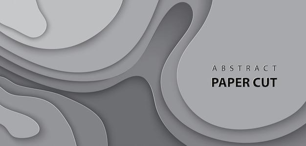 Hintergrund mit grauer farbe papierschnitt