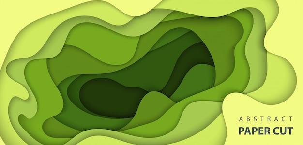Hintergrund mit grüner farbe papierschnitt