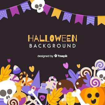 Hintergrund mit halloween-elementen