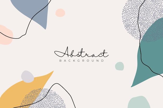 Hintergrund mit hand gezeichneter und retro-farbe