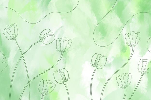 Hintergrund mit handgezeichneten elementen
