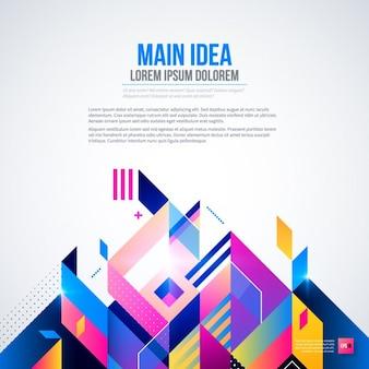Hintergrund mit hellen farben und geometrischen stil