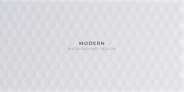 Hintergrund mit hexagonalem muster-vektor-design Premium Vektoren