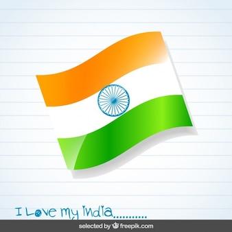 Hintergrund mit indien-flagge