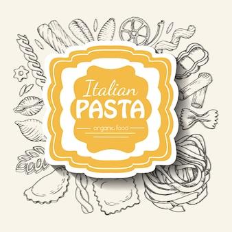 Hintergrund mit italienischer pasta