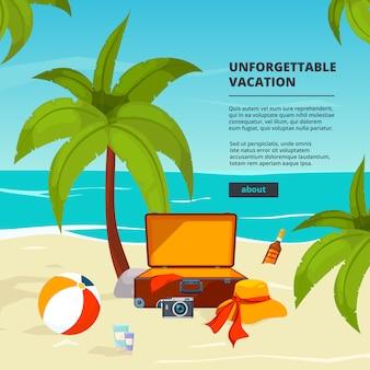 Hintergrund mit koffern. reiseillustrationen im cartoon-stil