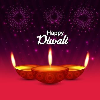 Hintergrund mit lichtern für diwali