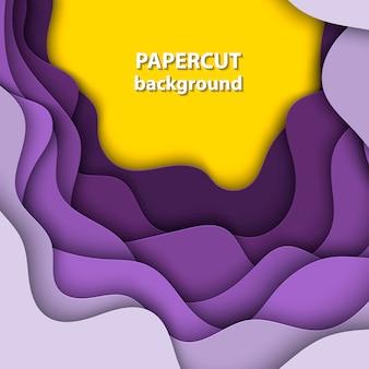 Hintergrund mit lila, gelbem steigungspapierschnitt