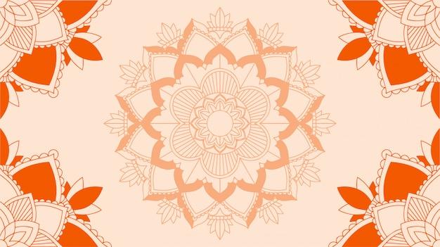 Hintergrund mit mandala-design