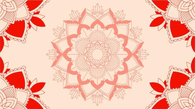 Hintergrund mit mandala-designs