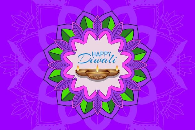 Hintergrund mit mandala pantern für glückliches diwali-festival