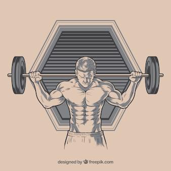 Hintergrund mit mann illustration