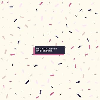 Hintergrund mit memphis stilelementen