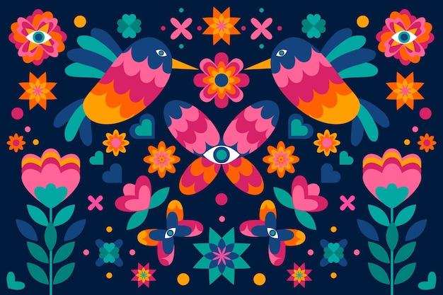 Hintergrund mit mexikanischem thema
