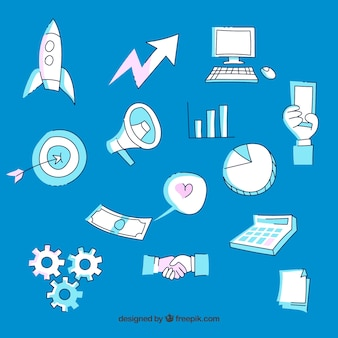 Hintergrund mit modernen marketing-elementen