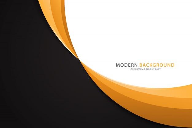 Hintergrund mit orange wellen