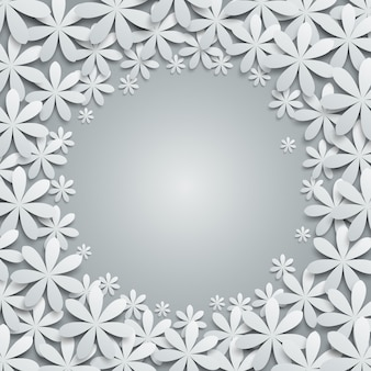 Hintergrund mit papierblumenelementen.