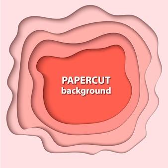 Hintergrund mit pastellfarbenem korallenpapierschnitt