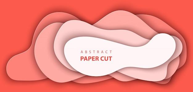 Hintergrund mit pastellkorallenpapier geschnitten