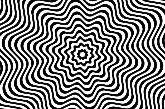 Hintergrund mit psychedelischer optischer täuschung