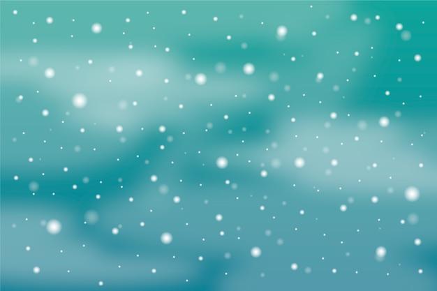Hintergrund mit realistischem schneefallthema