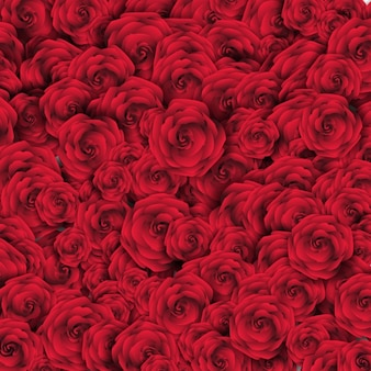 Hintergrund mit roten rosen