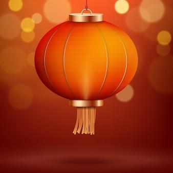 Hintergrund mit roter laterne des traditionellen chinesen. chinesisches neujahr dekoration