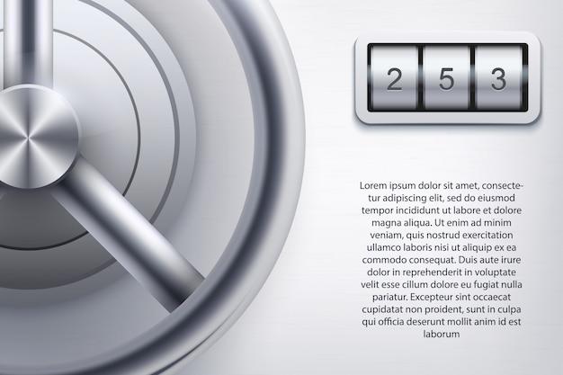 Hintergrund mit safe und chiffriercode