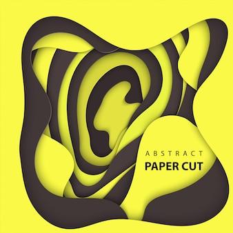 Hintergrund mit schwarzem und gelbem farbpapierschnitt