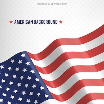 Hintergrund mit sternen und wellenförmige amerikanische flagge