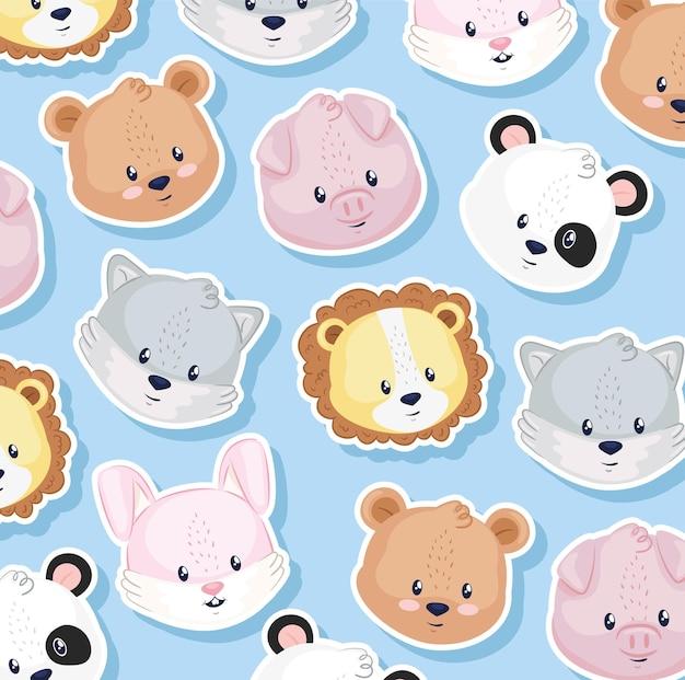 Hintergrund mit süßen tieren