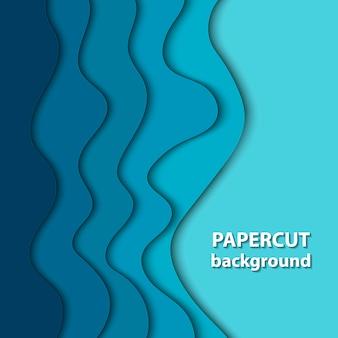 Hintergrund mit tiefblauem papierschnitt