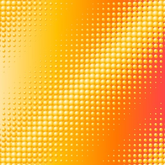 Hintergrund mit verstreuten gelben kugeln