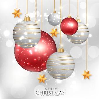 Hintergrund mit weihnachtsbaumelementen