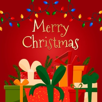 Hintergrund mit weihnachtsbaumgirlanden