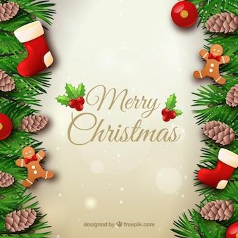 Hintergrund mit weihnachtsschmuck