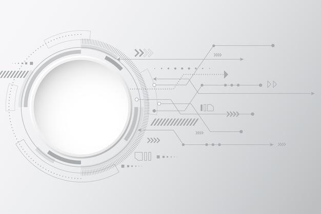 Hintergrund mit weißer technologie