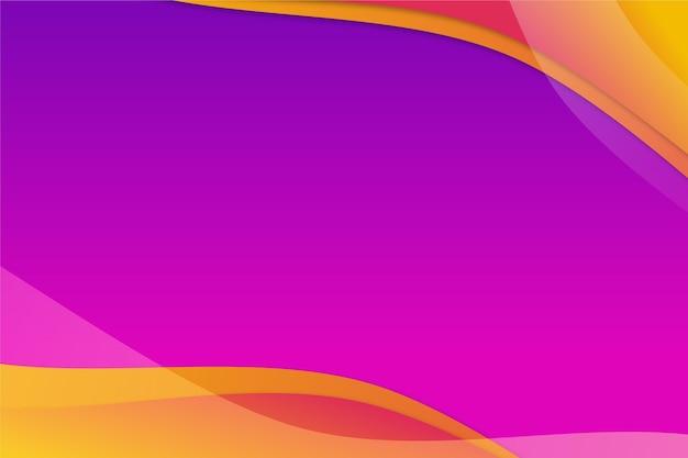 Hintergrund mit wellenförmigen formen des farbverlaufs