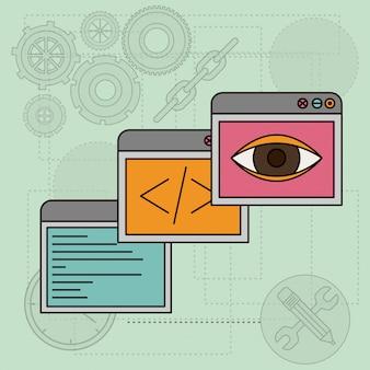 Hintergrund mit windows-apps für design